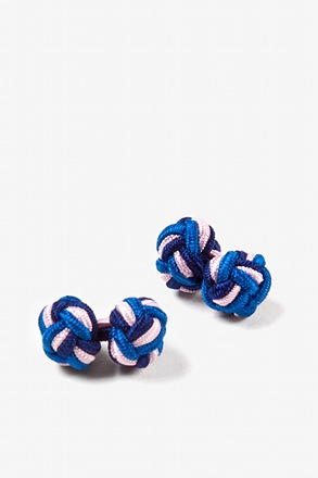 Tri-Color Knot Cufflinks