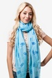 Blue Polyester What a Hoot Scarf
