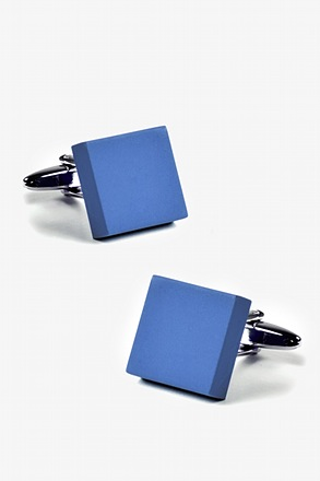 _Matte Square Solid Cufflinks_