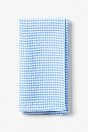 Blue Chamberlain Check Pocket Square