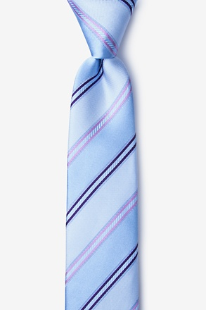 _Abbert Blue Skinny Tie_