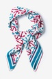 Blue Silk Anchor Accoutrement Square Scarf