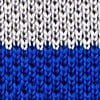 Blue Silk Belgian Color Block Knit Tie