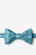 Blue Silk Bit by Bit Self-Tie Bow Tie