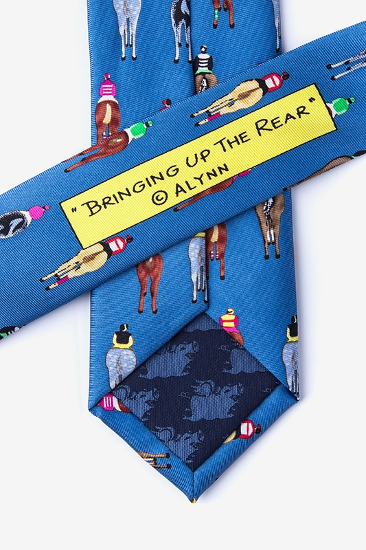 Bringing Up the Rear Blue Skinny Tie Photo (2)