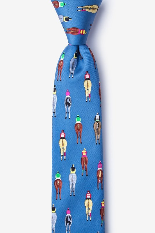 Bringing Up the Rear Blue Skinny Tie Photo (0)