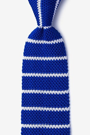 _Briton Stripe Blue Knit Tie_