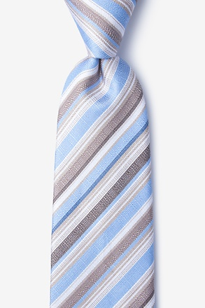 Carn Blue Extra Long Tie