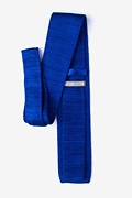 Classic Solid Blue Knit Tie Photo (1)