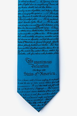 Declaration of Independence Blue Tie
