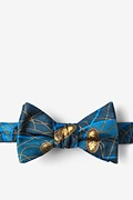 Blue Silk E. Coli II Butterfly Bow Tie