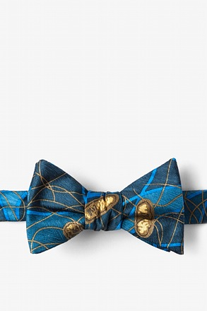 _E. Coli II Blue Self-Tie Bow Tie_