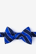 Blue Silk Fane Self-Tie Bow Tie