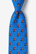 Feliz Navidog Blue Extra Long Tie Photo (0)