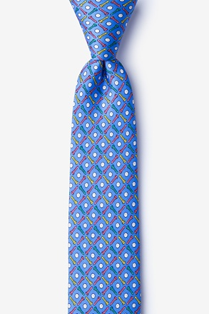 Golf Balls & Tees Blue Skinny Tie