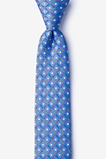 Blue Silk Golf Balls & Tees Skinny Tie