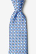 Blue Silk Golf Balls & Tees Tie
