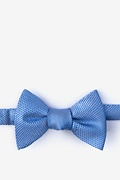 Blue Silk Goose Self-Tie Bow Tie