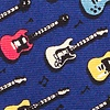 Blue Silk Guitar God Tie