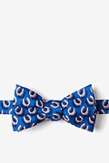 Blue Silk If the Shoe Fits Self-Tie Bow Tie