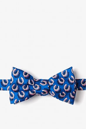 If the Shoe Fits Blue Self-Tie Bow Tie