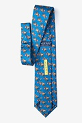 In Dog We Trust Blue Extra Long Tie Photo (1)