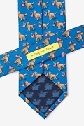 In Dog We Trust Blue Extra Long Tie Photo (2)