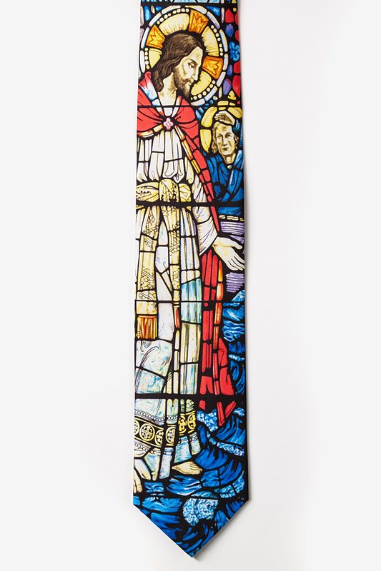 Jesus Stained Glass Tie