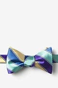 Blue Silk Know the Ropes Self-Tie Bow Tie