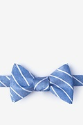 Blue Silk Lagan Bow Tie