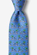 Blue Silk Laundry Day Tie