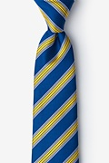Blue Silk Melville Extra Long Tie