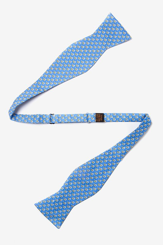 Micro Sailboats Blue Self-Tie Bow Tie Photo (1)