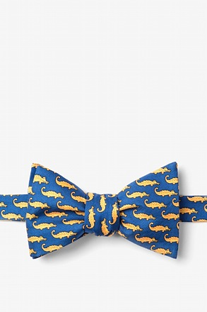 _Mini Alligators Blue Self-Tie Bow Tie_