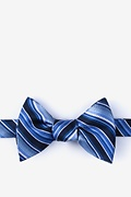 Blue Silk Moy Self-Tie Bow Tie