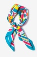 Blue Silk Nautical Flags Square Scarf