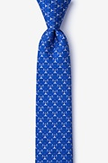 Blue Silk Scales Of Justice Skinny Tie