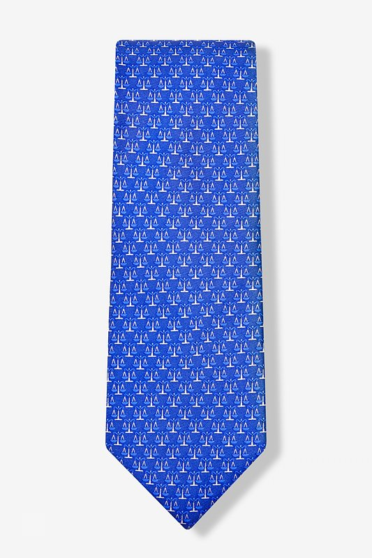 Scales Of Justice Blue Tie Photo (1)