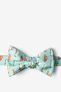 Blue Silk Seas the Day Bow Tie