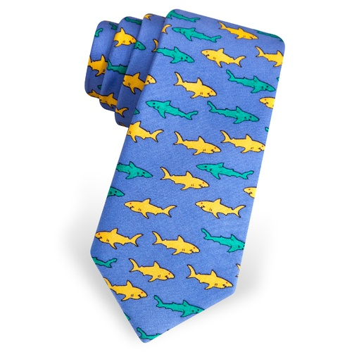 Sharks Skinny Tie by Alynn Novelty