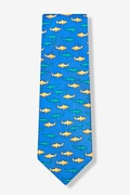 Sharks Blue Tie Photo (1)
