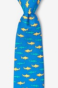 Sharks Blue Tie Photo (0)