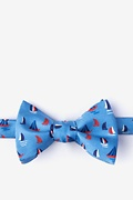 Blue Silk Smooth Sailing Self-Tie Bow Tie