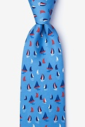 Blue Silk Smooth Sailing Tie