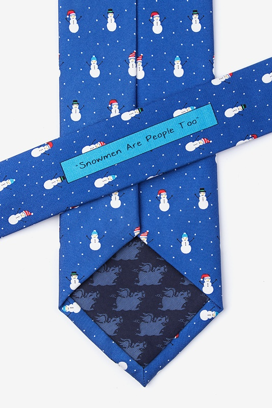 Snowman Are People Too Extra Long Tie