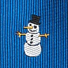 Blue Silk Snowman Print Extra Long Tie