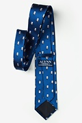 Snowman Print Blue Extra Long Tie Photo (2)