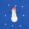 Blue Silk Snowmen in the Snow Tie