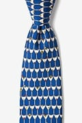 Blue Silk Stack of Martinis Tie