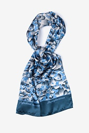 Blue Silk Staphylococcus Oblong Scarf